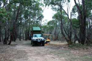 Our little patch of bush for the weekend. Only two other campers in sight.