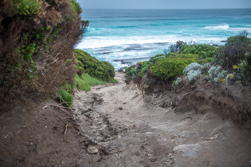 Beach access is steep and dangerous