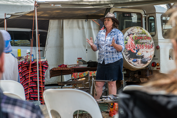 Jo Clews did a little talk about camp oven cooking and whipped up some awesome sausage rolls!