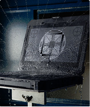 Gotta take a pee and the Dell gets caught up in your stream? Not a worry! This beast is IP-65 water resistant!