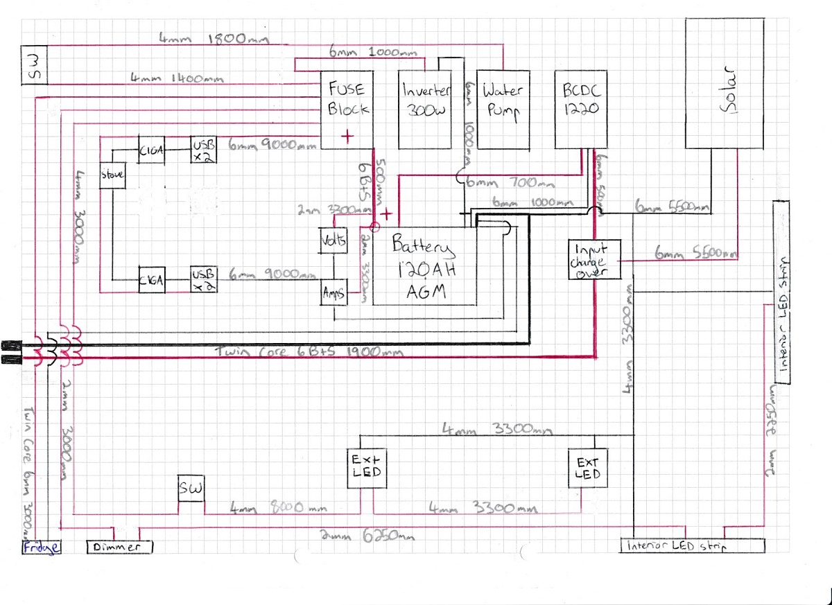Diagram trailer rebuild designing a 12v setup intents offroad redarc dual battery wiring diagram at gsmx.co