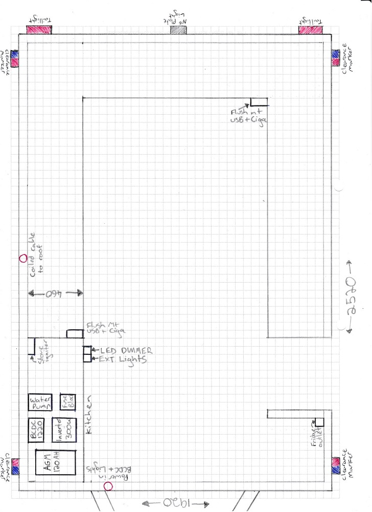 camper trailer 12v electrical diy trailer rebuild designing a 12v setup intents offroad camper trailer wiring diagrams at gsmx.co