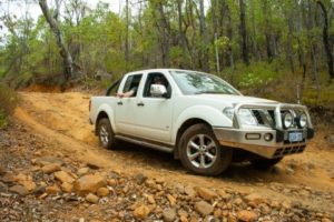 Connors Navara, advanced technology gave the Nav the edge to keep up with the modified trucks.