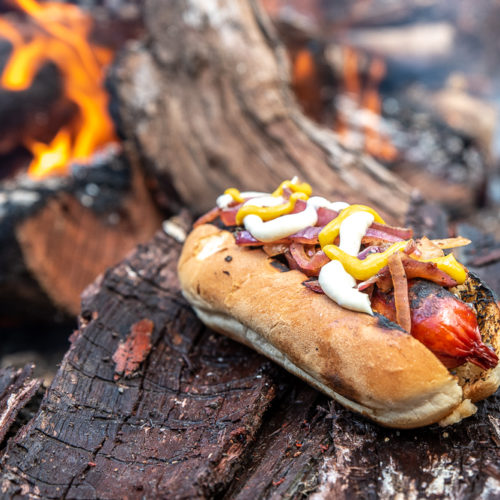 Campfire Loaded Hotdogs