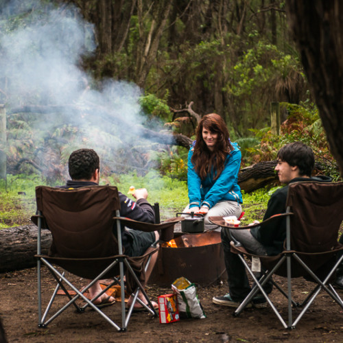 Camping on the Margaret River coast, Western Australia