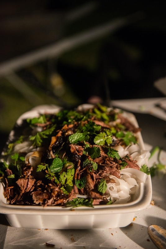 Malaysian Pulled Lamb with rice noodles