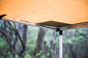 Rain Camping under ARB Awning in Margaret River, WA