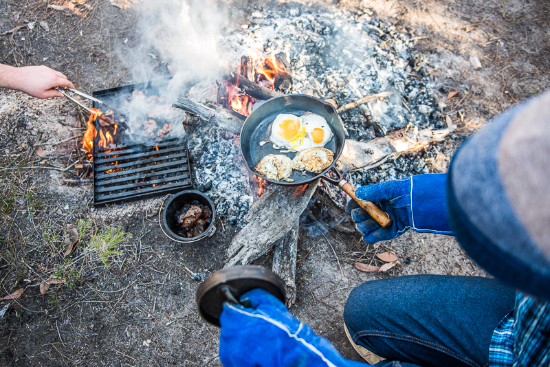 Cooking over a fire is awesome, but don't rely on it