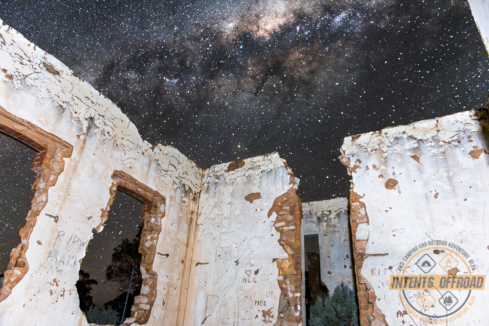 The outback night skies are spectacular against the ruins